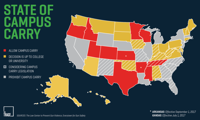 Gun Laws By State Map 2018.So Concealed Carry Is Coming To Your Campus Now What Campus Safety