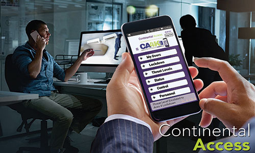 Continental Access Debuts CA4K Access Control App for Security Managers