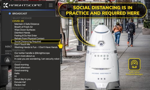 Knightscope Robots Now Make Coronavirus Public Safety Announcements