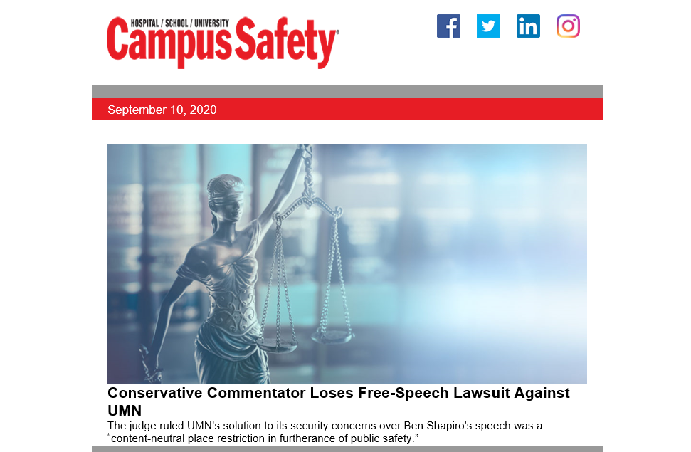 Subscribe to Campus Safety's Newsletters? Read This.