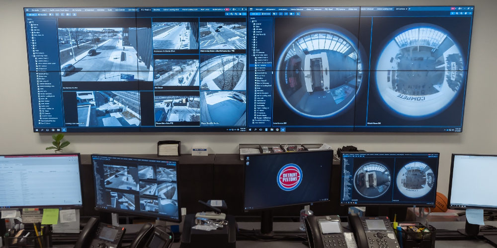 NBA's Detroit Pistons Use RGB Spectrum's MediaWall for 24/7 Security