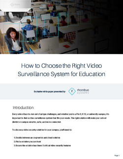 How to Choose the Right Video Surveillance System for Education