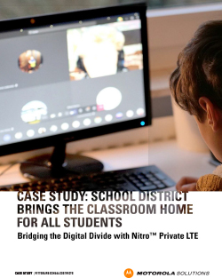 Case Study: School District Brings the Classroom Home for All Students